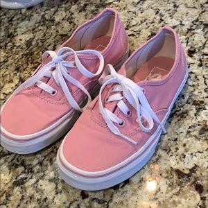 Pink Vans.  Good used condition!